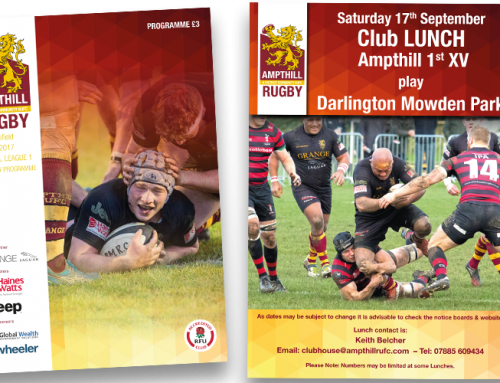 Ampthill Rugby Club design and print