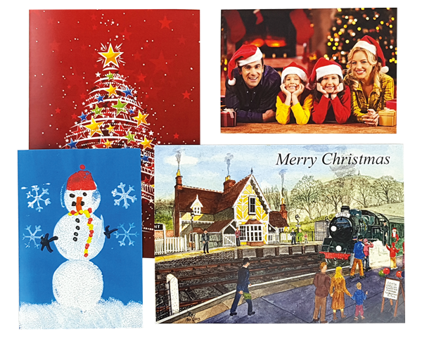 Using printed christmas cards to drive business fidelity print view larger image personalised xmas card printing colourmoves