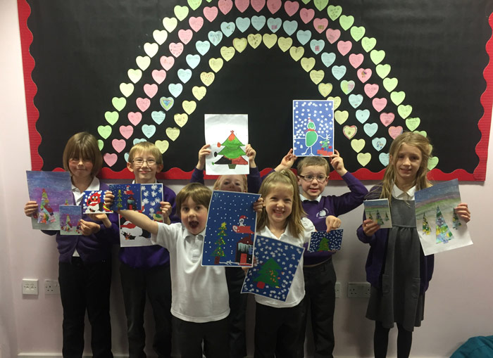 Russel Lower in Ampthill raise almost £500 from our school Christmas card fundraising scheme