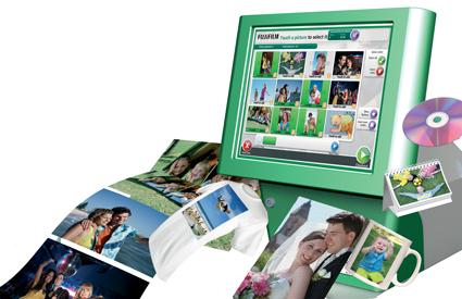 fuji instant photo printing self service kiosk