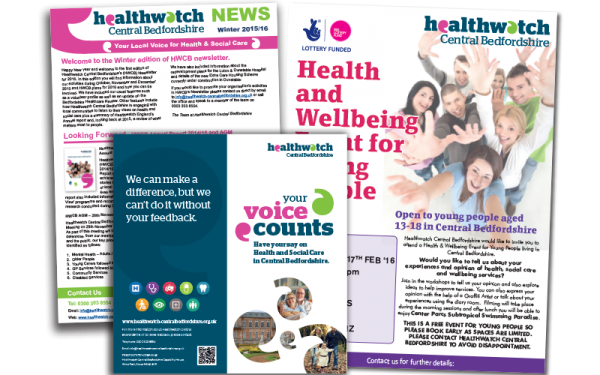 Healthwatch design and print